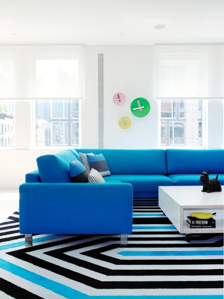 Colorful Sofas   Turquoise Sofa