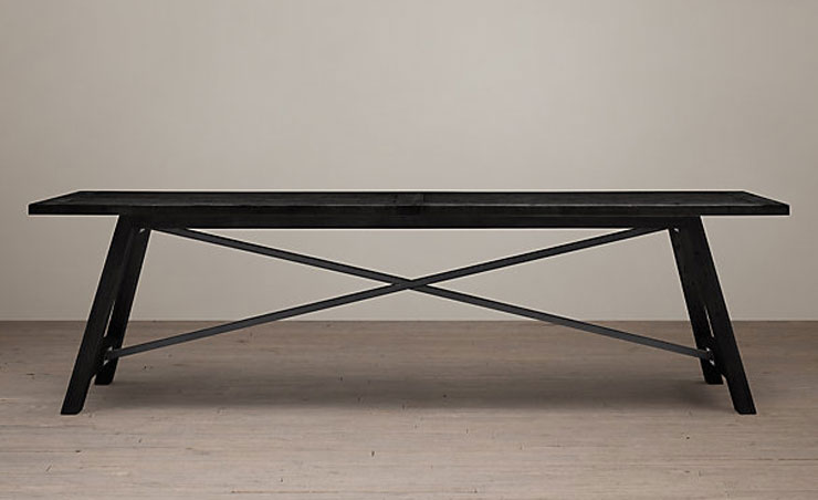 Restoration Hardware -Railway Trestle Rectangular Dining Table - $895 - $1895