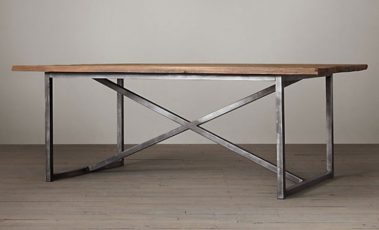 restoration hardware Salvaged Boatwood Rectangular Dining Table cococozy. 19 Modern Dining Room Tables   Metal   Wood   COCOCOZY