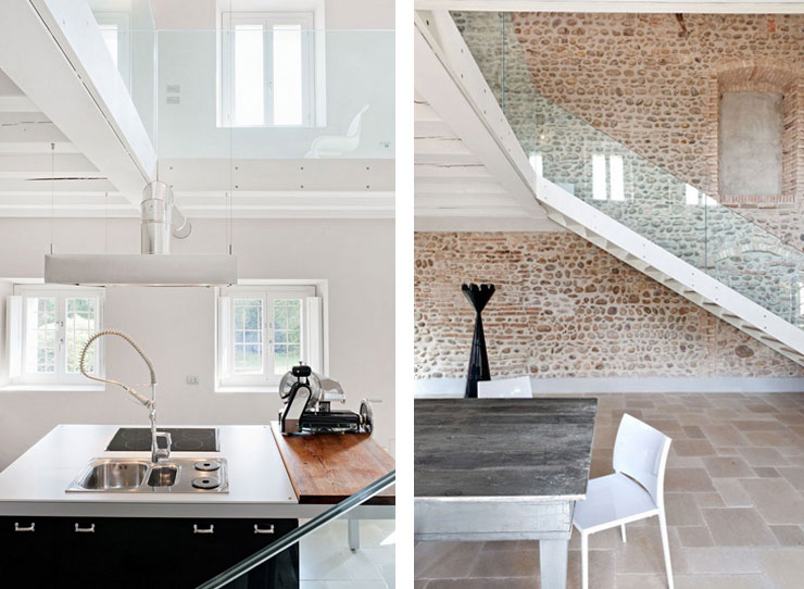 Old Farmhouse Renovation Kitchen Design Stairs