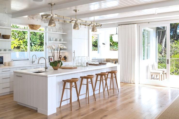 Cindy Crawford Malibu House for sale kitchen after renovation
