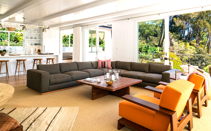 Cindy Crawford Malibu House living room