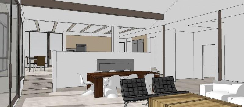 Malibu Home Renovation 3D drawing living room