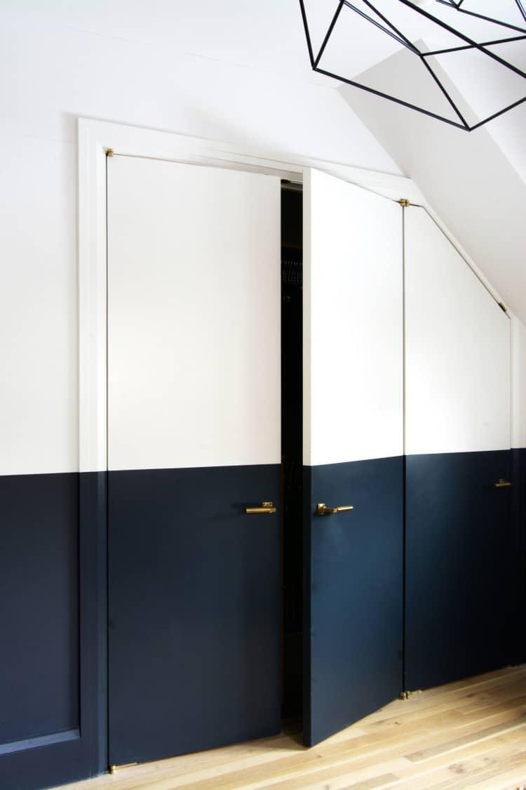 Two-Tone bedroom interior doors