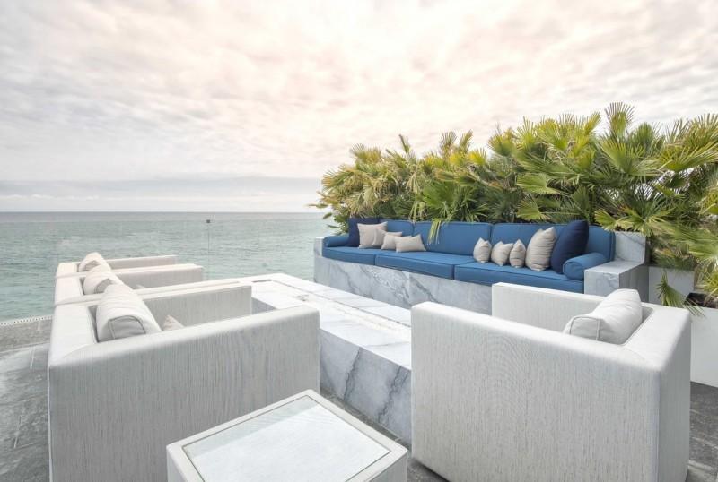 Malibu Modern Beach House Outdoor Living Room Fire Pit