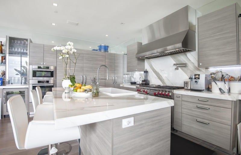 Malibu Modern Beach House Grey Kitchen