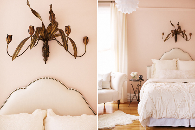 Monochromatic rooms pink bedroom