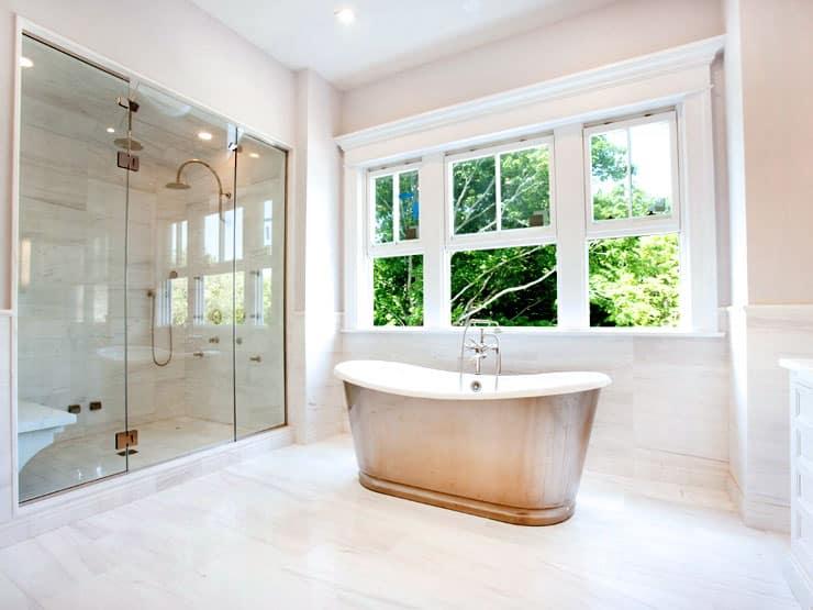 House Tour Bridgehampton Beauty master bathroom
