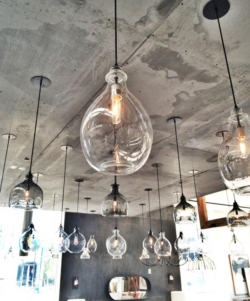 Home Renovation Kitchen Hand blown glass pendant lights