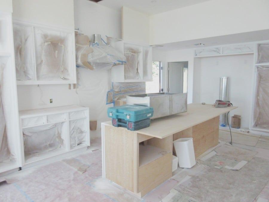 Malibu Home Renovation Project Kitchen under construction