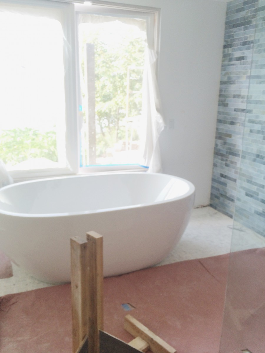 Malibu Home Renovation Project - Master bath