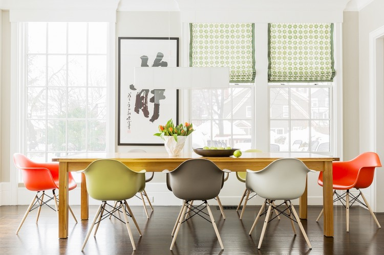decorating ideas bright colorful dining room