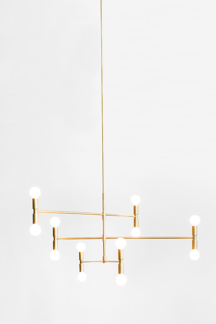 lambert et fils lighting atomium pendant light chandelier brass cococozy