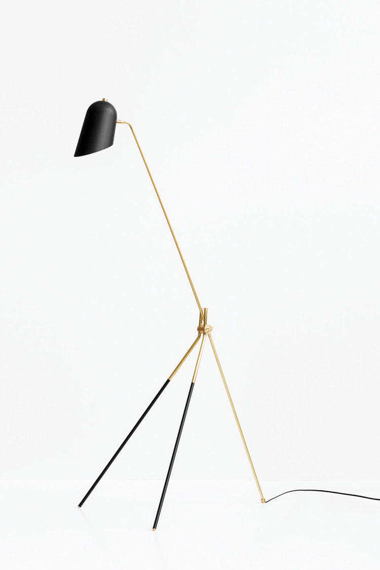 lambert et fils lighting cliff floor lamp brass black metal cococozy