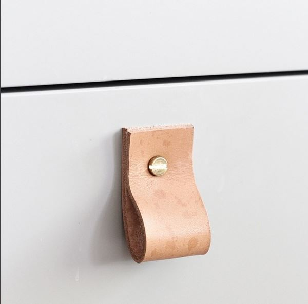 Leather Cabinet Drawer Pull Handle Cococozy Shopmaybemay