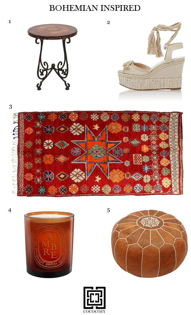 bohemian inspired home decor and fashion