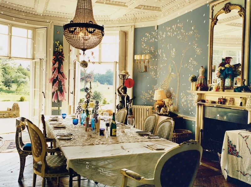 Bohemian Home Decor image of cozy bohemian home decor Alice Temperley Bohemian Dining Room