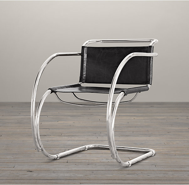 cantilivered chair chrome black leather cococozy rh
