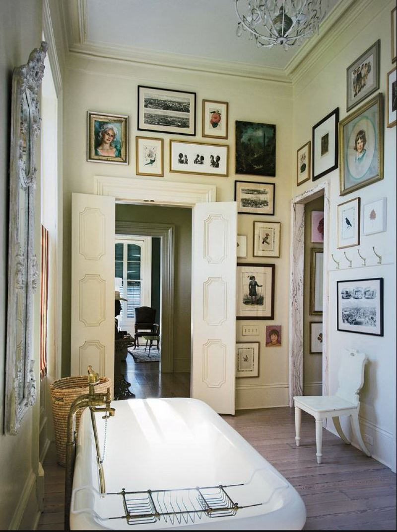 master bathroom new orleans gallery wall cococozy nyt paul sara costello