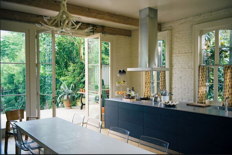 modern kitchen exposed brick new orleans cococozy nyt
