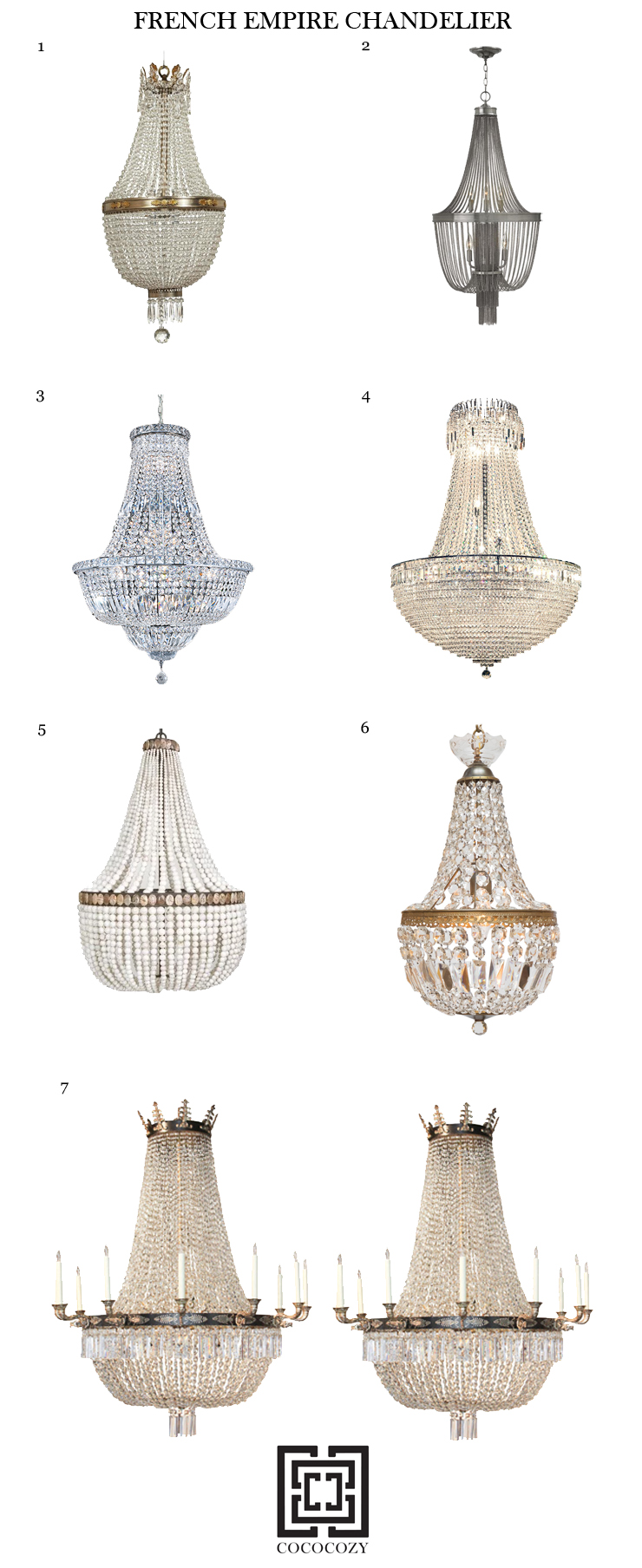9 elegant french empire chandeliers cococozy french empire chandelier aloadofball Gallery