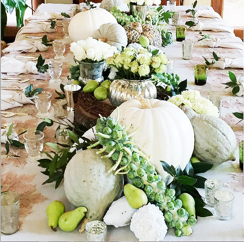 Thanksgiving-dinner-table-centerpiece-white-pumpkins-dining-room-cococozy