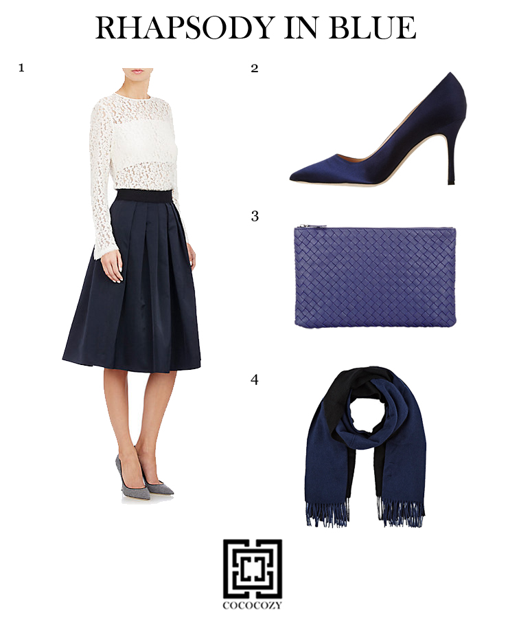rhapsody in blue fashion inspired by blue rooms