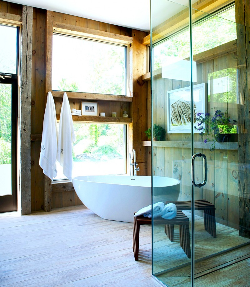 Pennsylvania rustic home master bathroom