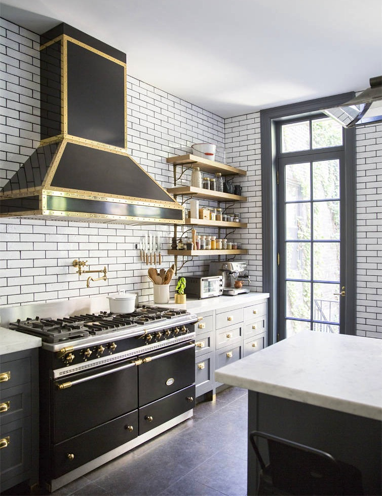 black-la-cananche-stove-hood-white-kitchen-subway-tile-wall-nyc-cococozy-domino