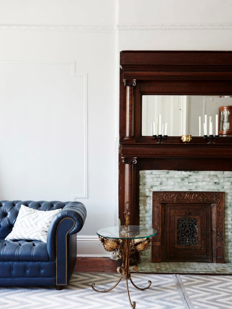 Brooklyn Brownstone Carved Fireplace