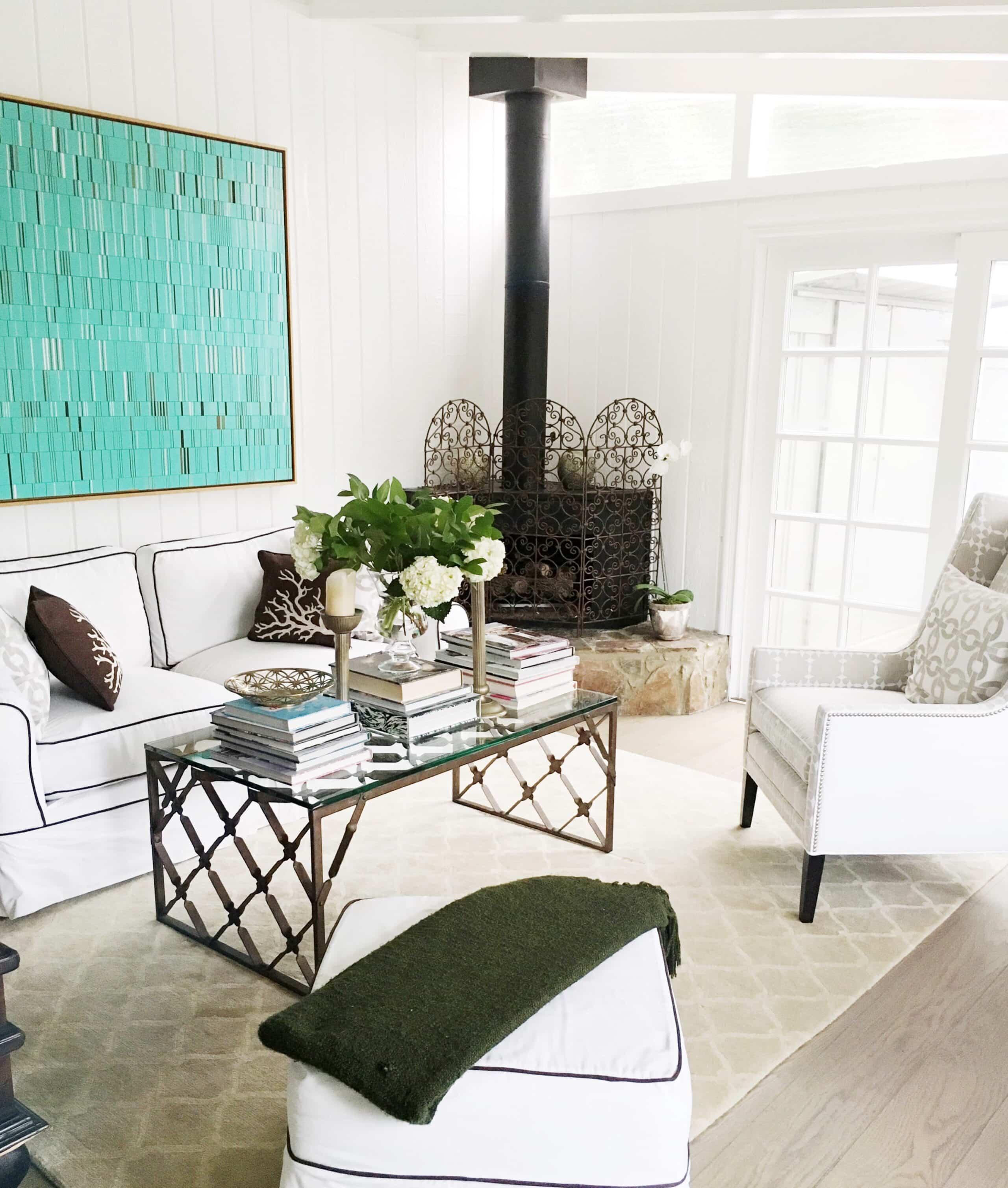COCOCOZY Living Room Flower Arrangement Hydrangea