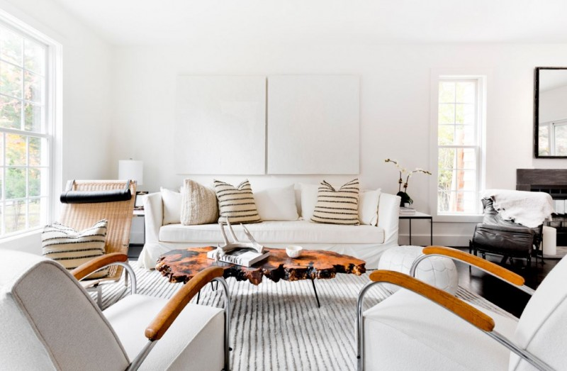 Bright Modern Rooms White Living Room