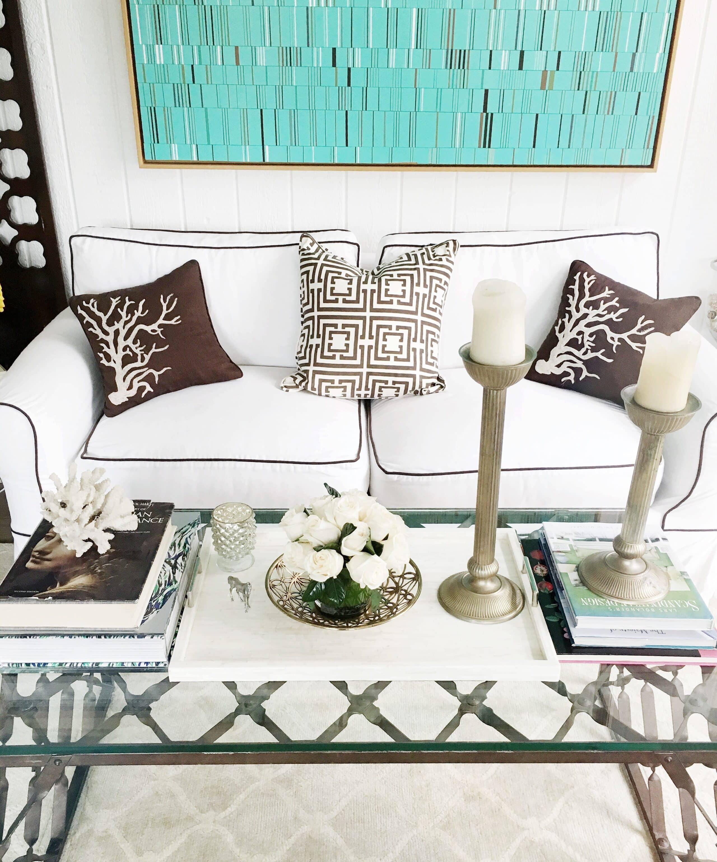 COCOCOZY Living Room Flower Arrangement White Roses
