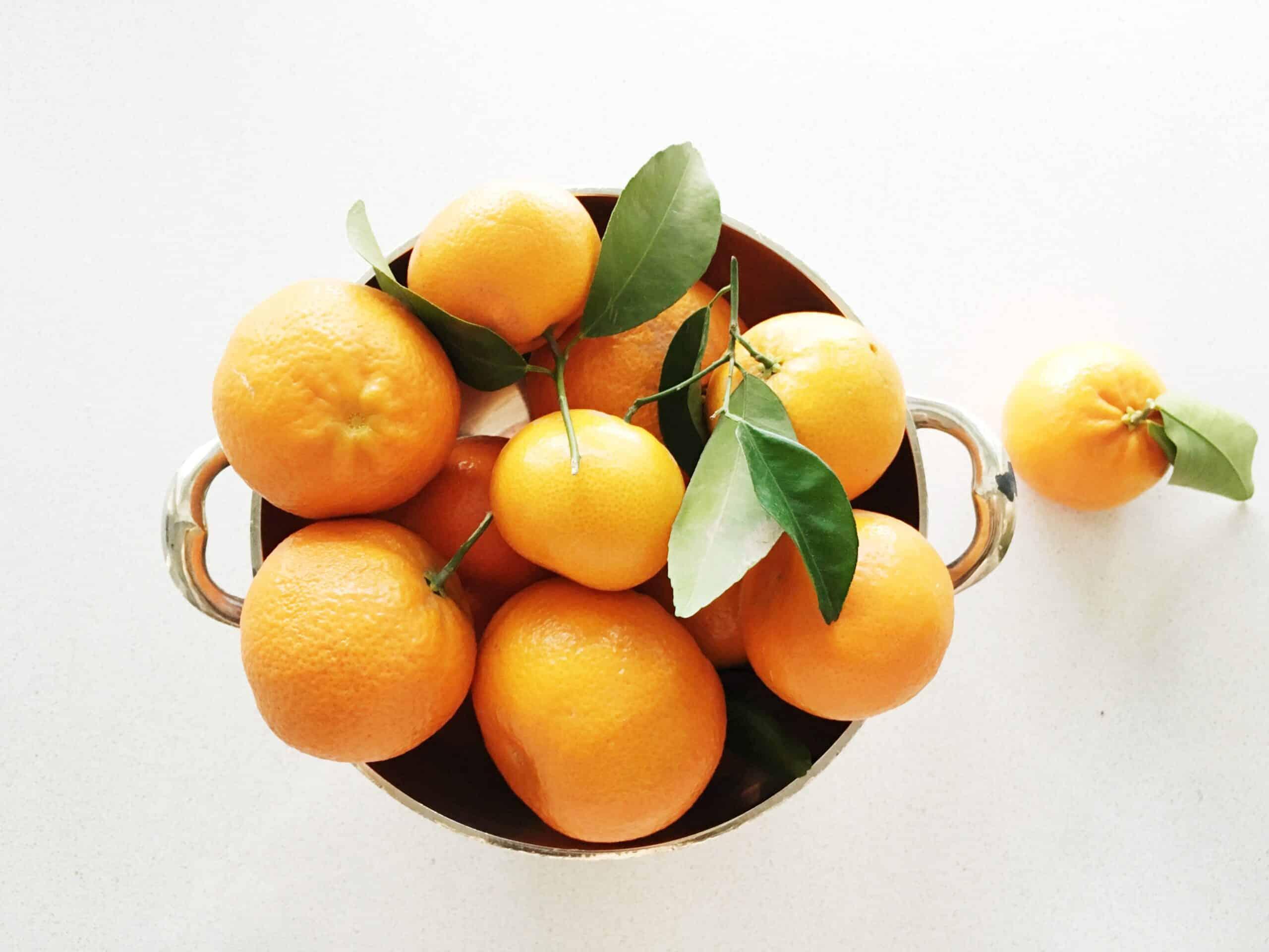 Mandarin Oranges silver bowl