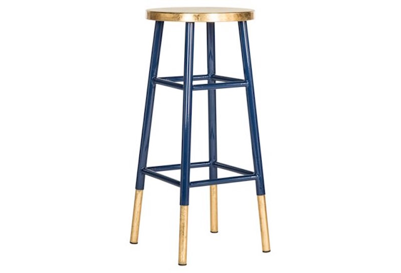 Design On Sale Navy Gold Barstool