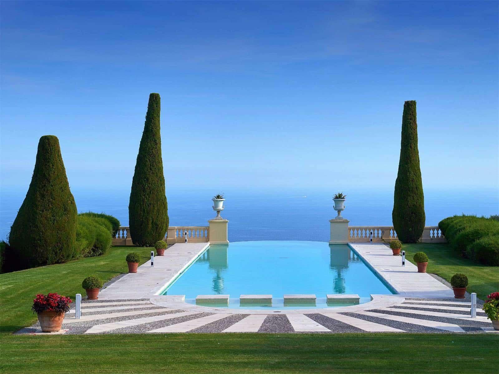 cannes castle pool ocean view