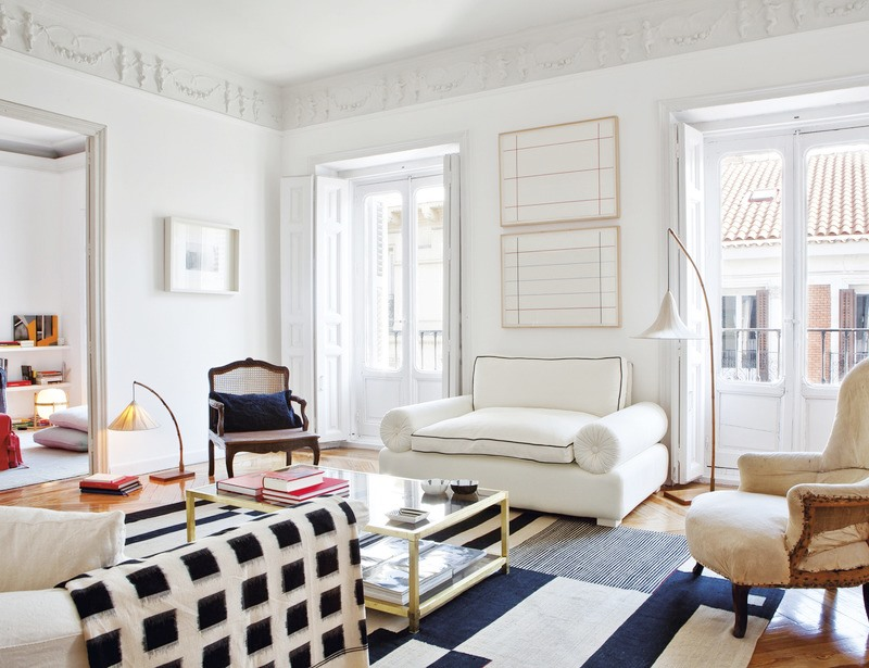 Madrid Apartment White Living Room