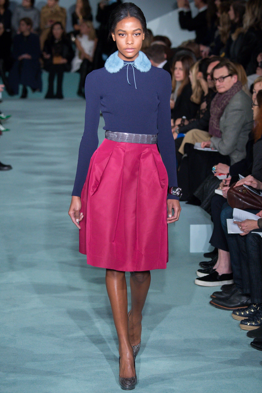 oscar-de-la-renta-hot-pink-skirt-navy sweater-cococozy-vogue
