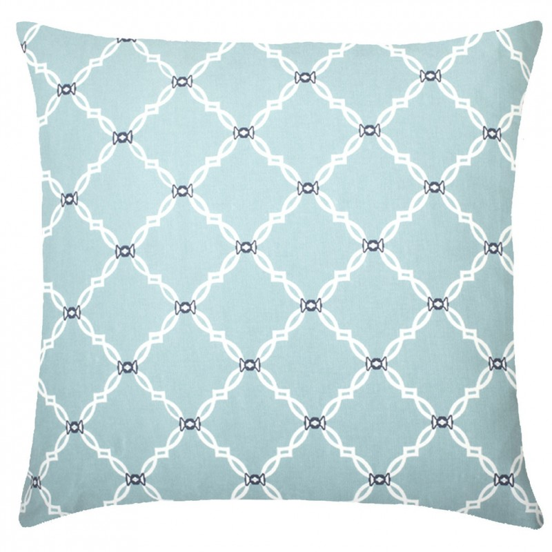 Blue Kip Cotton Pillow