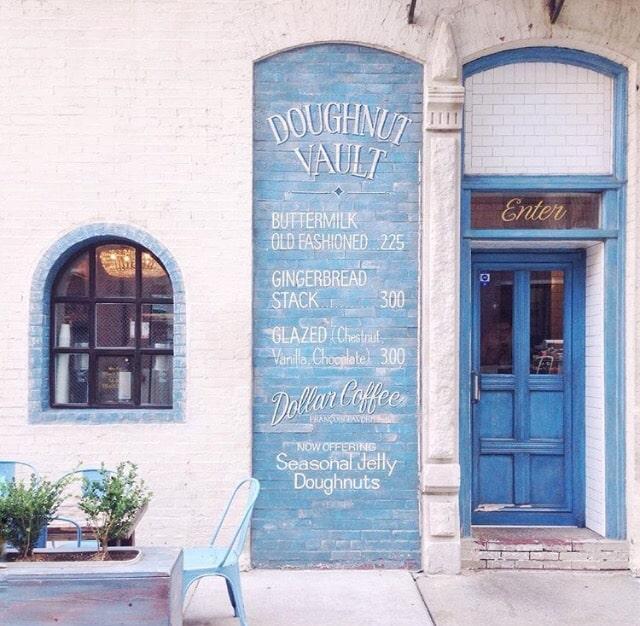 Blue Door Donut Wall