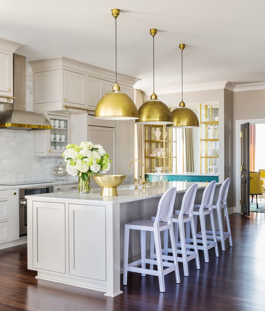Kitchen Cabinets Light: Grey Kitchen Cabinets Brass Accents - This Or That