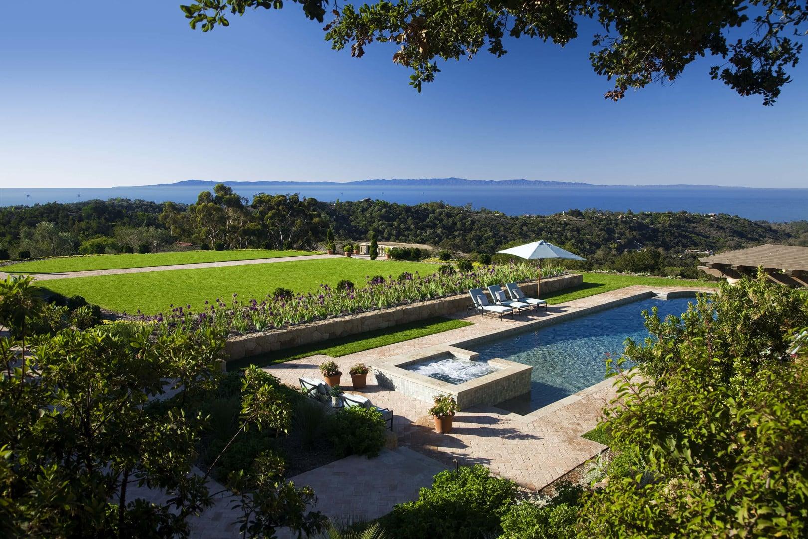 Montecito Mansion Pool Ocean View
