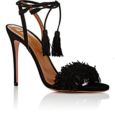 Aquazzura designed a lovely heel in the same family as my fringe sandals and it is fabulous! $735
