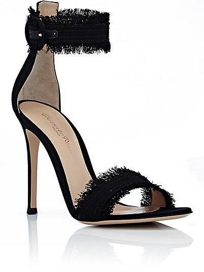Switch any outfit from Day to Night with these Gianvito Rossi fringe ankle heels, $835