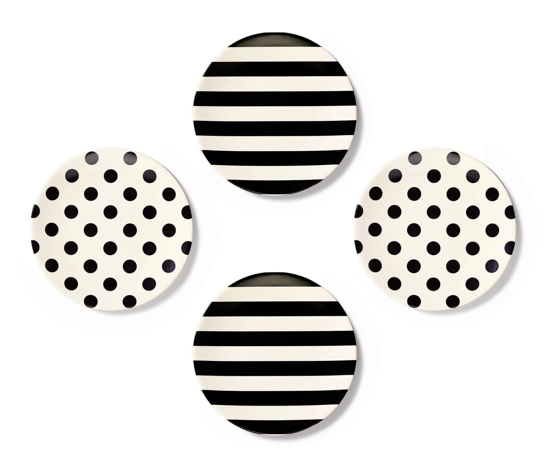 Kate-Spade-Tid-bits-Black-White-Melamine-Plates-cococozy
