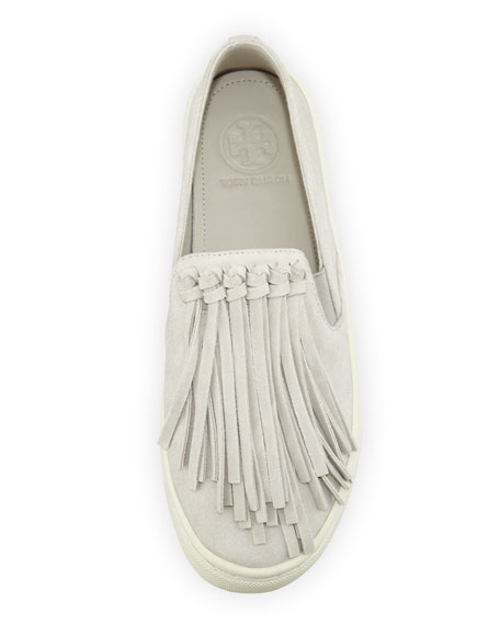 tory burch fringe slip on sneakers cococozy