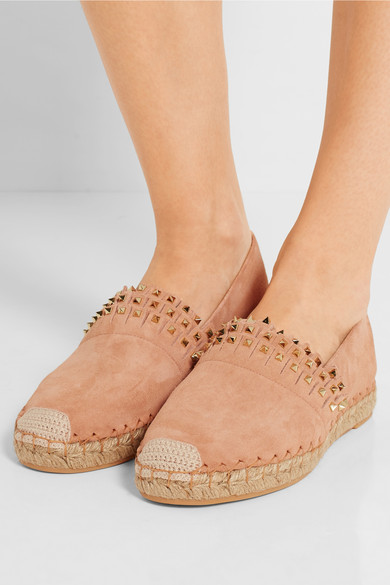 These Valentino pair of Rockstud slip-ons are perfect all year round. $895