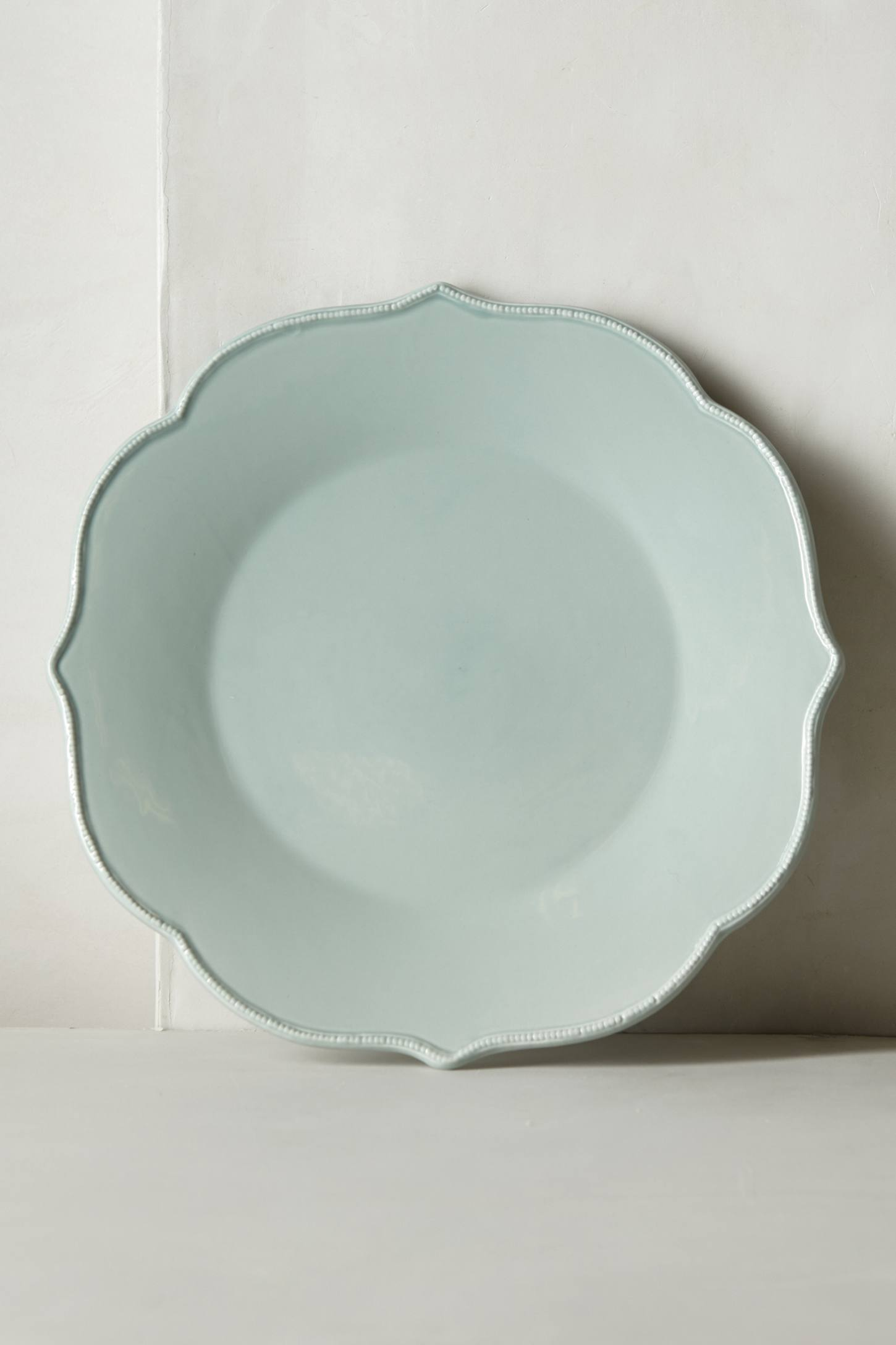 kitchen mint green dinner plate scalloped
