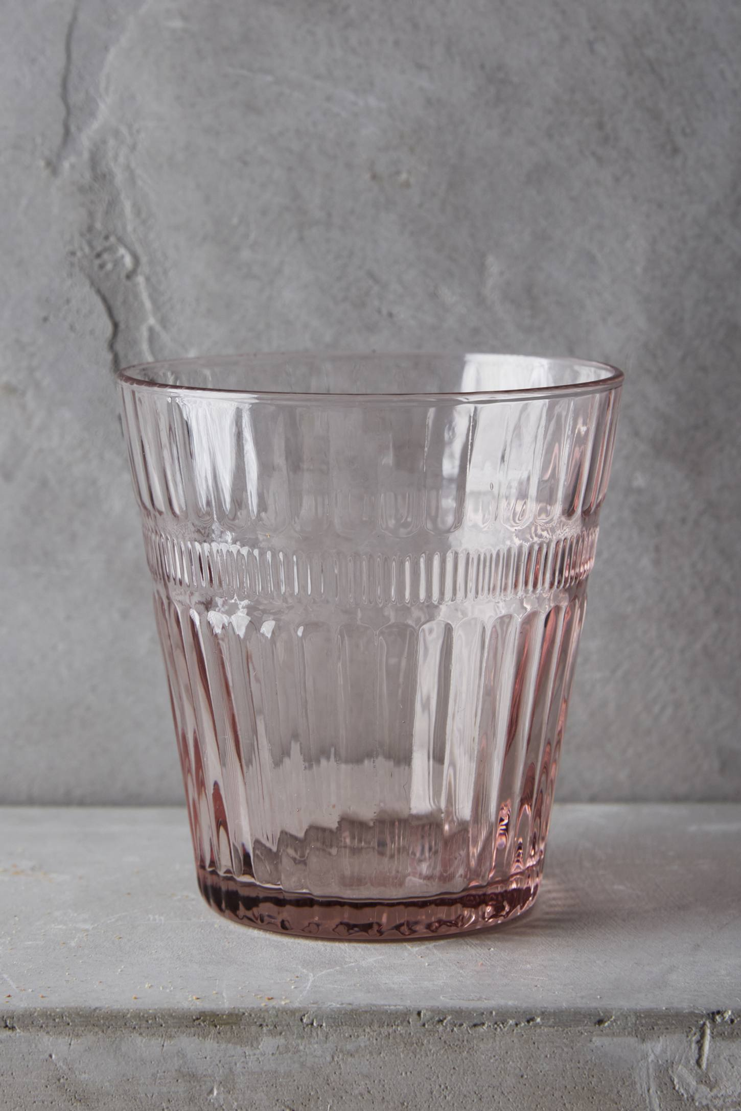 Pink glass tumbler glassware