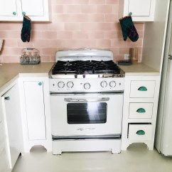 Retro Kitchen Tile Backsplash Cabinets With Sink Cococozy